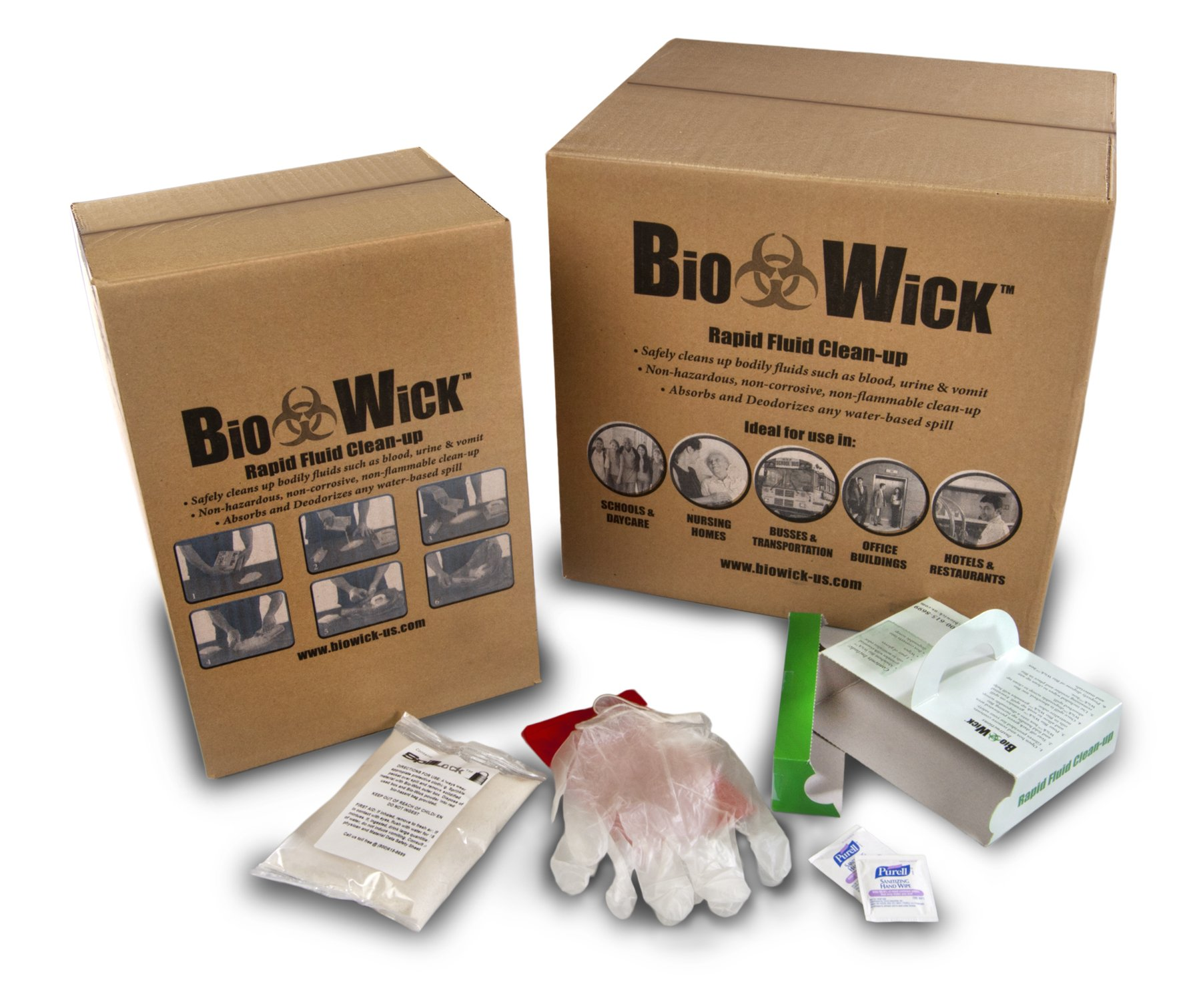 ESP BIOWICK-10 5 Piece Bio-Wick Universal Water Based Rapid Absorbent Fluid Cleanup Spill Kit, 3L Absorbency, Off White (Pack of 10)