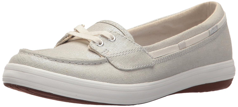 Keds Women's Glimmer Metallic Linen Sneaker B072WQZT4L 8 B(M) US|Light Gray/Silver