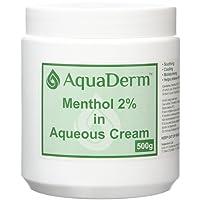 Rxfarma-AquaDerm 500g Menthol in Aqueous Cream Tub 2 Percent