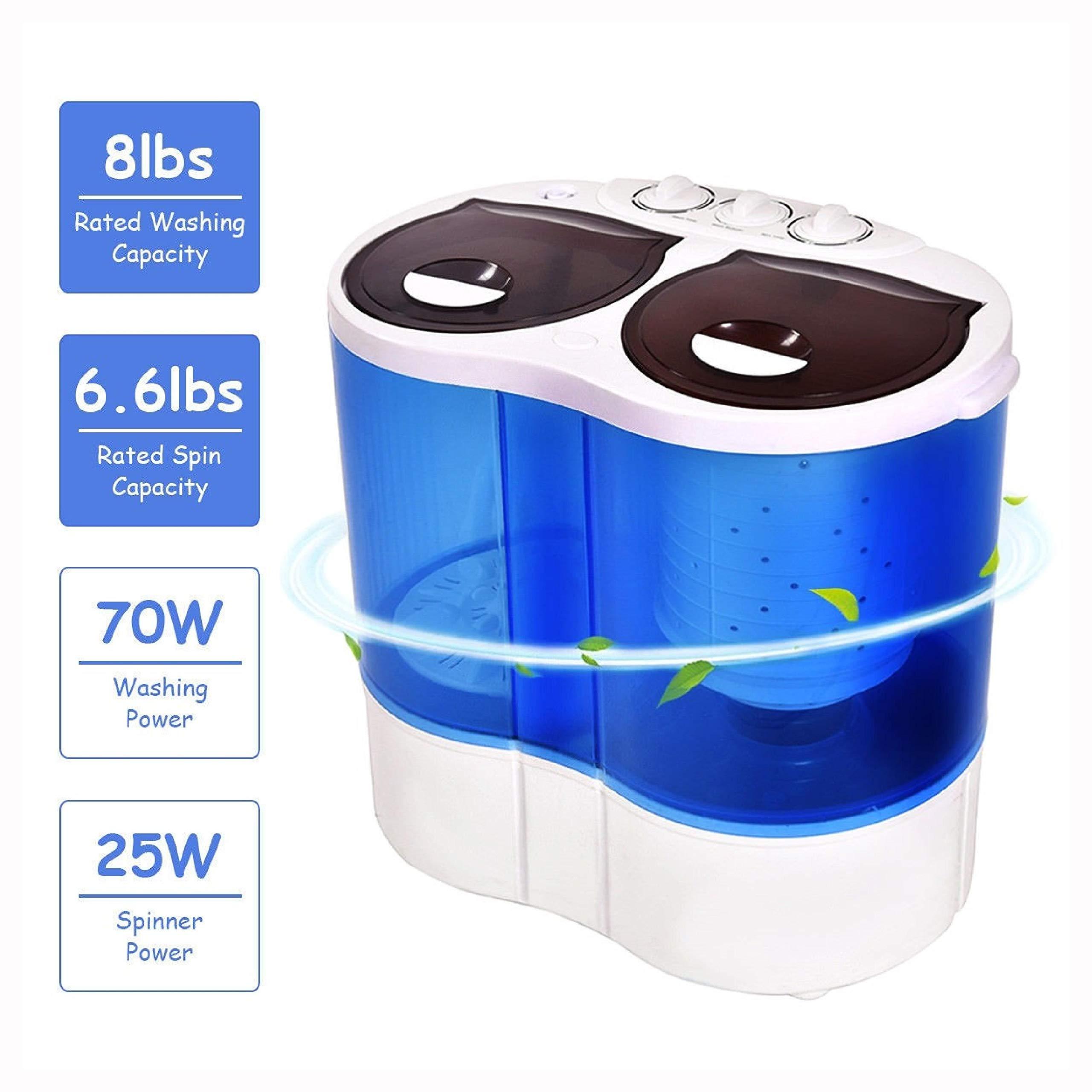 Washing Machine, 15 lbs Portable Compact Twin Tub Mini Washing Machine by HomyDelight (Image #5)