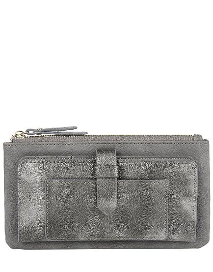 Accessorize - Cartera para mujer , color gris, talla Einheitsgröße: Amazon.es: Zapatos y complementos