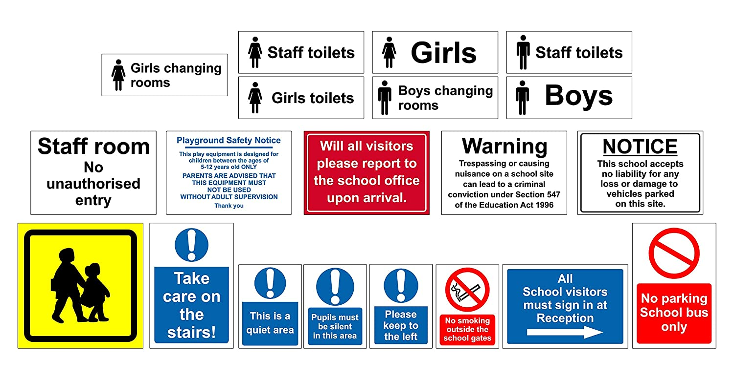 No smoking outside school gates safety sign