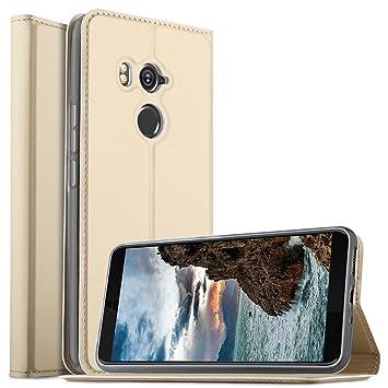HTC U11 Plus Funda, KuGi Slim Flip Cover Carcasa Cubierta de cuero ...