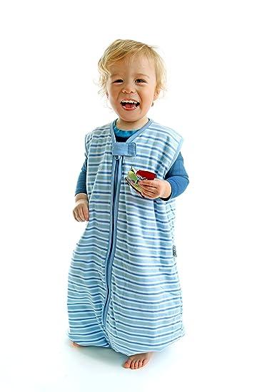 Amazon.com: SlumberSafe Summer Sleeping Bag with Feet Early Walker 1.0 Tog, Blue Stripes, 3-4 Years: Baby