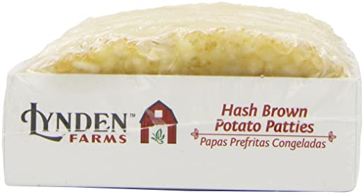 Amazon.com : Lynden Farms Potato Patty 10 Pk, 22.5 oz (Frozen) : Frozen Hash Brown Potatoes : Grocery & Gourmet Food