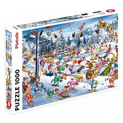Piatnik 00 5351 Ruyer Skiing Puzzle: Toys & Games