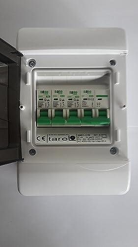 3 way garaje, cobertizo consumidores unidad/caja de fusibles, 63 A aislamiento Interruptor y 3 con interruptor principal (2 x 32 amp, 6 AMP MCB de): Amazon.es: Iluminación
