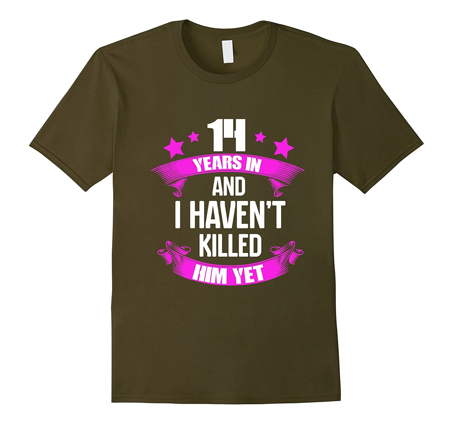14th Wedding Anniversary T Shirt For Wife Funny Gifts Ideas Pl