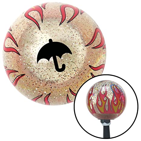 White 5 Speed Shift Pattern - 5RUL American Shifter 108338 Black Shift Knob with M16 x 1.5 Insert