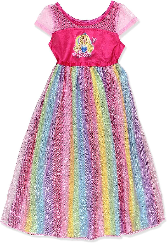 Barbie Girls Rainbow Dressing Fantasy Dress Nightgown Pyjamas 4