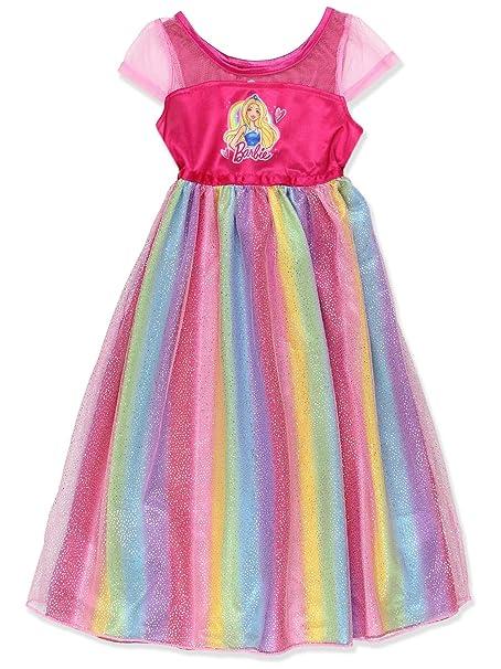 Amazon.com: Barbie - Pajamas para niña con arcoíris: Clothing