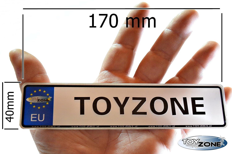 A-Max EU Kinder Nummernschild Party Schilder KFZ Namenschilder Kinderfahrzeug Schilder personalisiert 170mm x 40mm mit Klebestreifen auf der R/ückseite