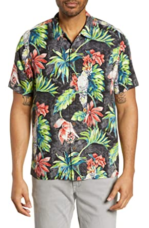 c0c8248b Tommy Bahama Tahitian Tweets Silk Camp Shirt at Amazon Men's Clothing store: