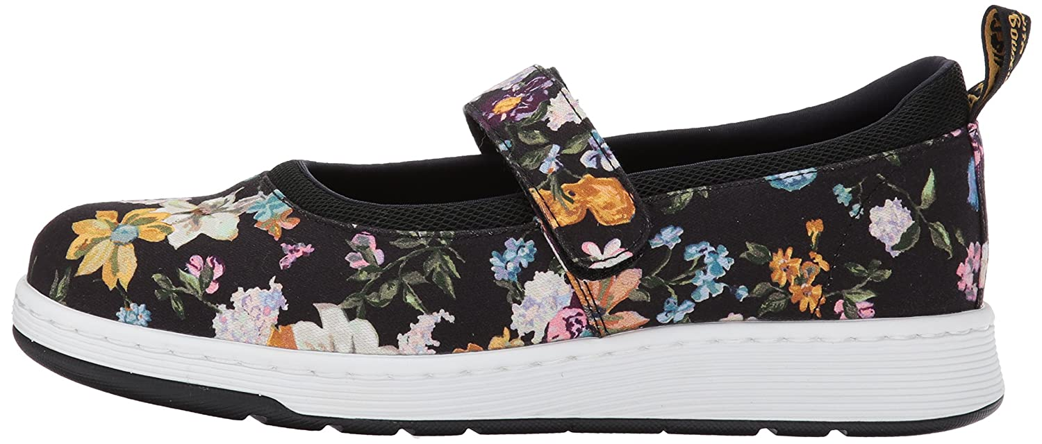 Dr. Martens Jane Women's Askins DF Mary Jane Martens Flat B01MU5B74C 4 Medium UK (6 US)|Black Darcy Floral Fine Canvas+sports Spacer Mesh 934407