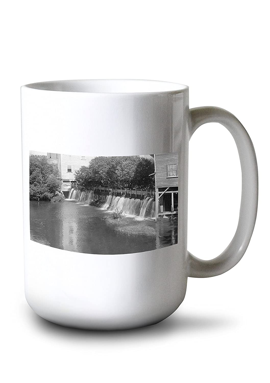Adin、カリフォルニア – View of aミル池、ダム 15oz Mug LANT-3P-15OZ-WHT-11751 B077RZ9N4V  15oz Mug