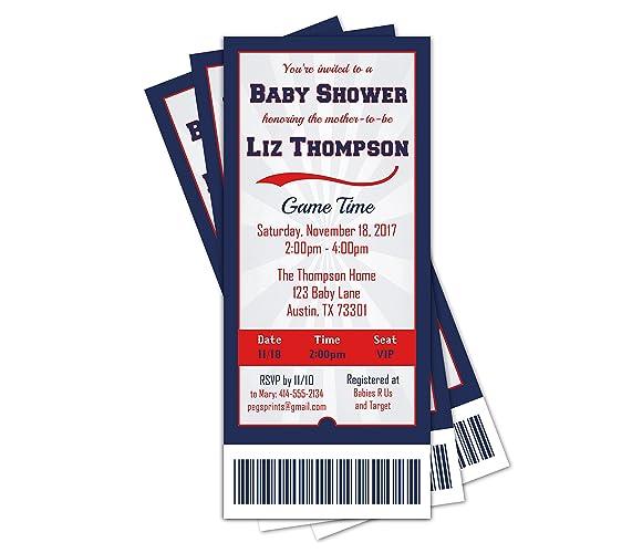 amazon com sports ticket baby shower invitation sports baby