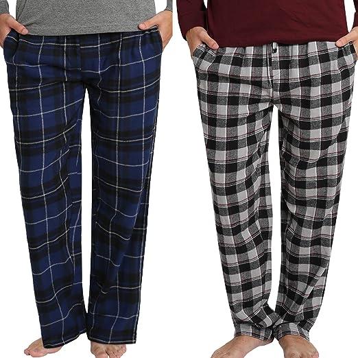 Men/'s Hanes Classic 100/% Cotton Flannel Lounge Pants Plaid PJ Sleep Pants NEW