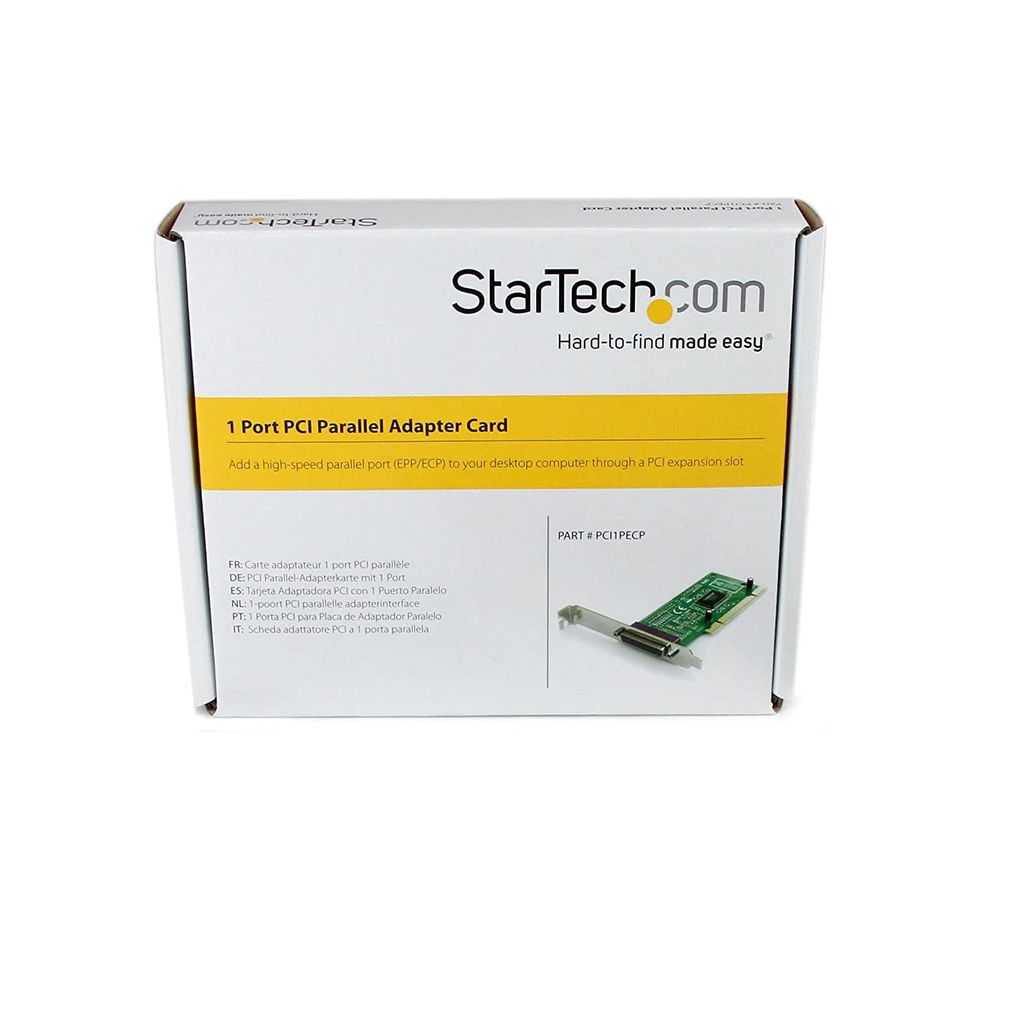 StarTech.com 1 Port PCI Parallel Adapter Card - Parallel adapter - PCI - IEEE 1284 - PCI1PECP