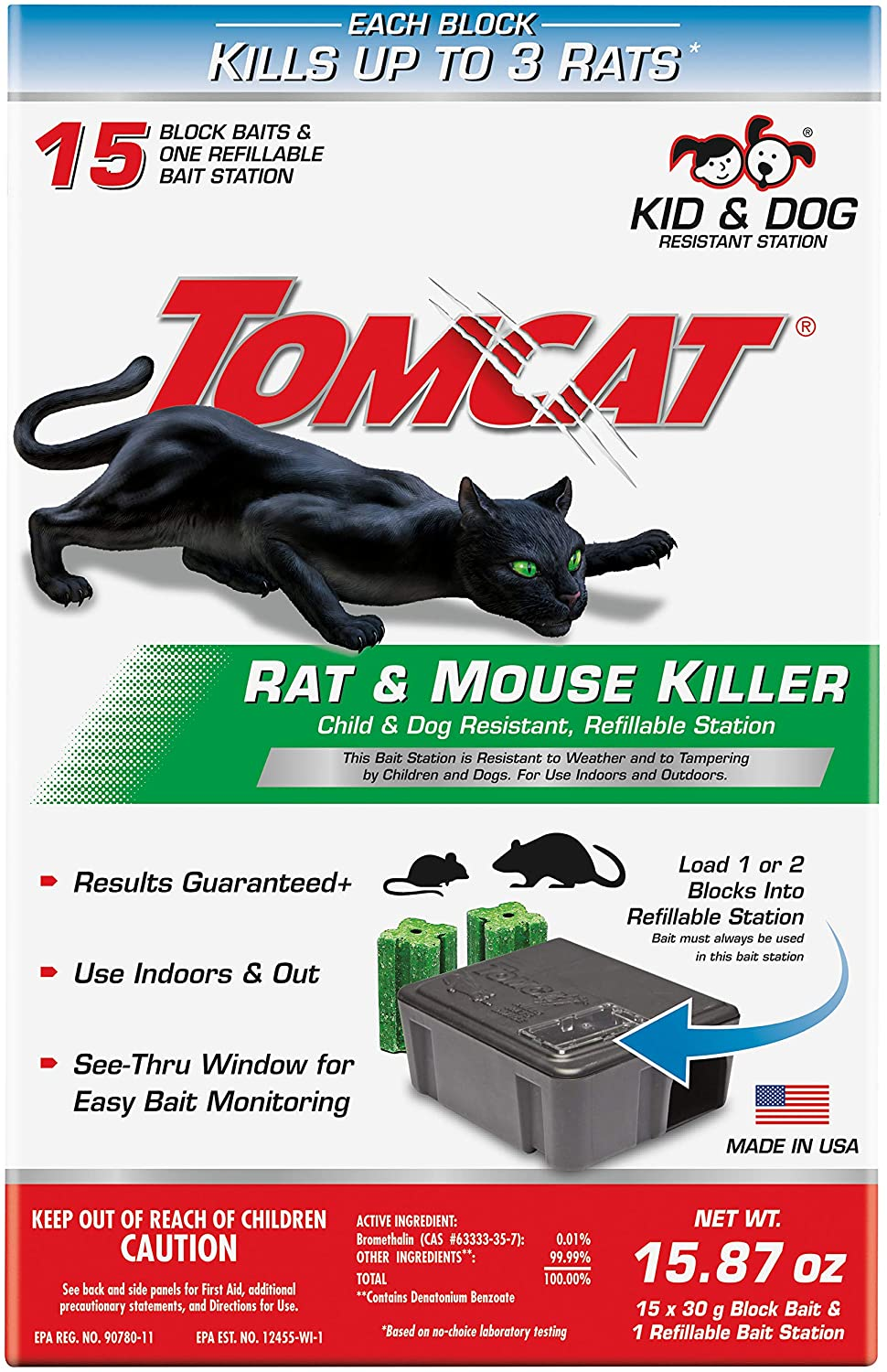 Tomcat  Small  Snap  Bait Station  For Rats