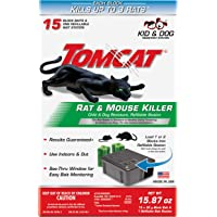 Tomcat Rat & Mouse Killer Child & Dog Resistant, Refillable Station, 1 Station, 15 Bait Blocks