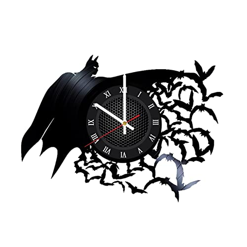 Ma Va Batman Arkham Asylum Vinyl Record Wall Clock Gift for Fans Great Idea Home Decor DC Comics Vintage Decoration – Buy Gift for Everybody