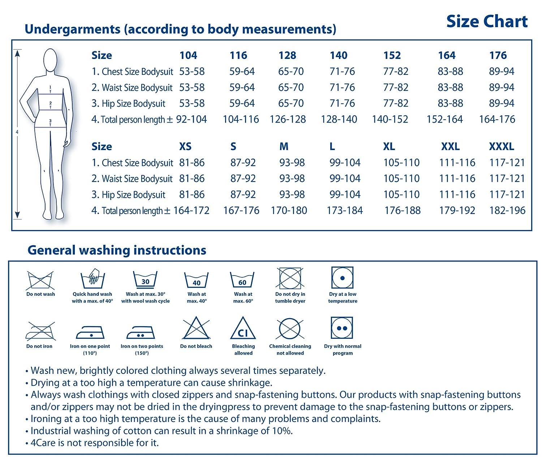 4Care Pflege Body, für Damen und und und Herren, mit Druckknopfverschluss an beiden Schultern und im Schritt, 100 weiß B004GA8EBC Arbeitskleidung & Uniformen Natürlicher Stoff d8397e