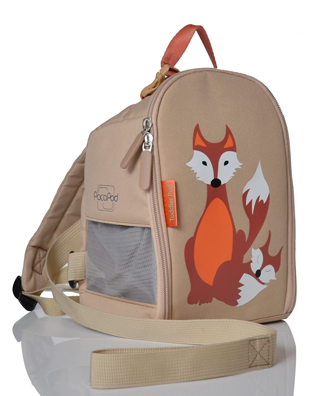 PacaPod Designer Toddler Pod - Fox & Babe - Luxury Pod With Internal Pockets. Backpack Straps And Safety Rein For Toddlers