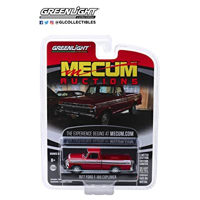 GL Greenlight 1:64 Mecum Auctions Series 3 1977 Ford F-100 Red: Toys & Games