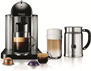 Nespresso VertuoLine Coffee and Espresso Maker with Aeroccino Plus Milk Frother, Black (Discontinued Model)