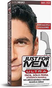 Just For Men Ultra Tinte Colorante en Crema, sin Amoniaco o Peróxido, Aplicacion Facil, Color Negro (U-55), 35 g