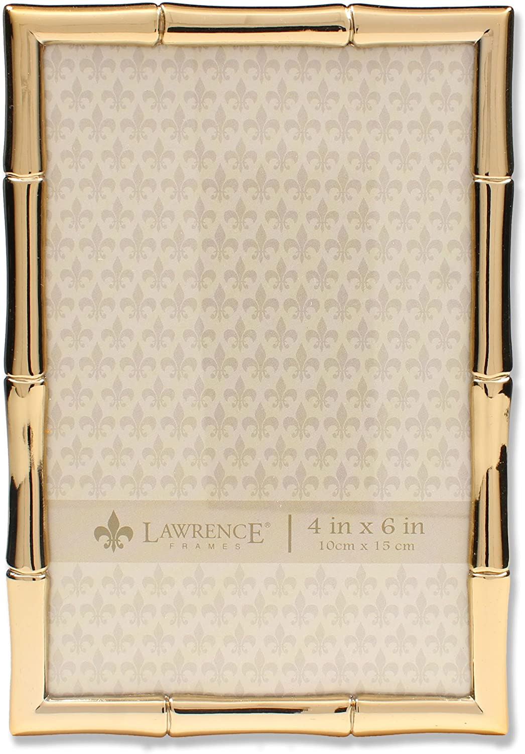 Amazon Com Lawrence Frames 4x6 Gold Metal Picture Bamboo Design Frame Home Kitchen