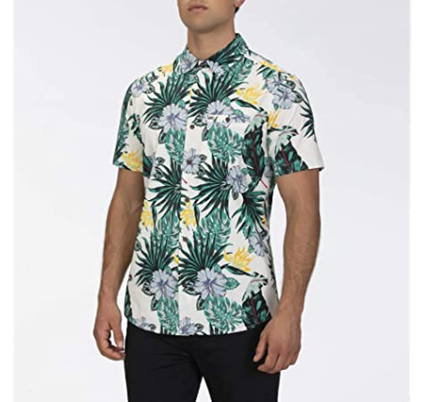 Hurley M Botanical S/S Camisa, Hombre, Black: Amazon.es: Deportes y aire libre