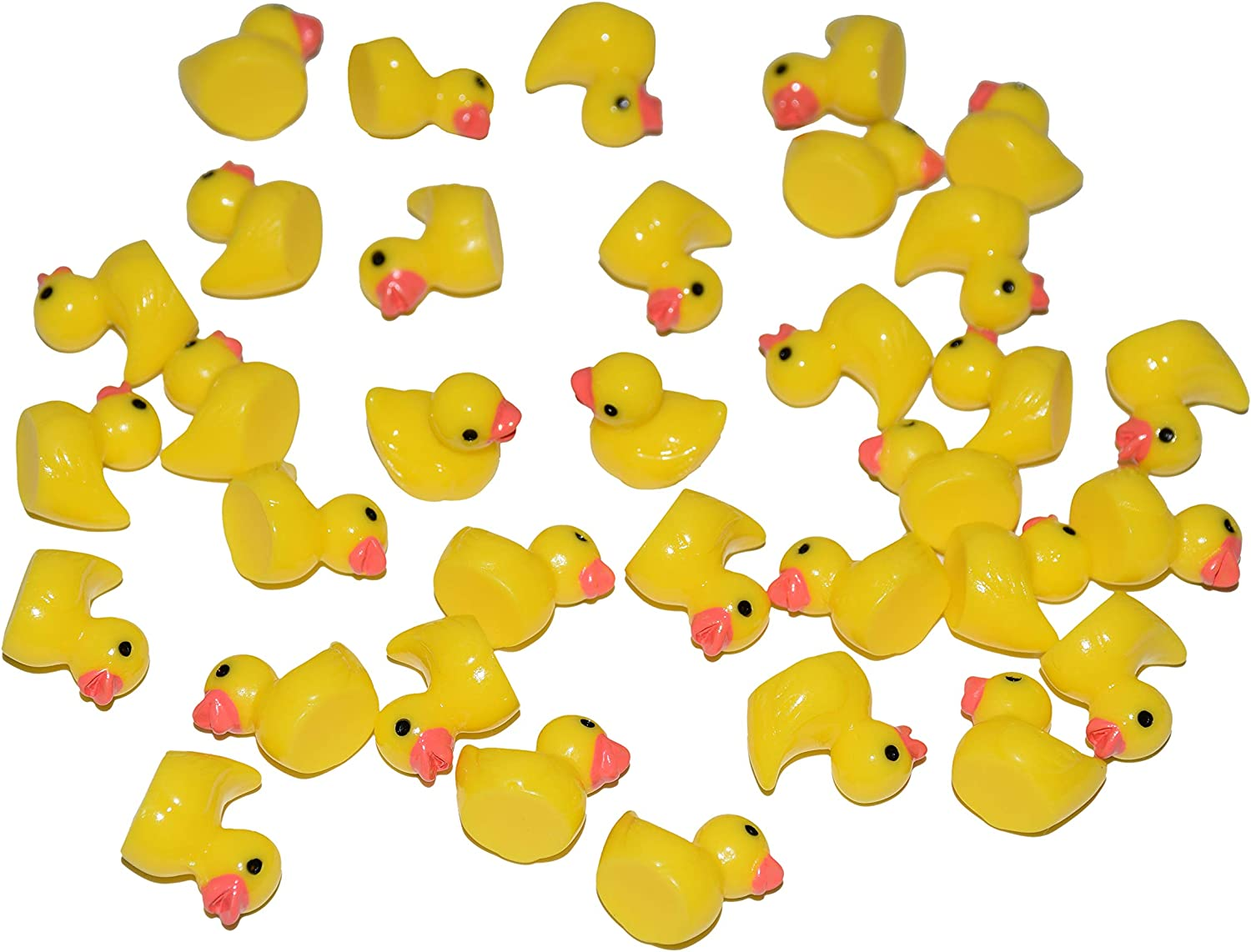 AMOBESTER Slime Charms Ducks Hard Resin Duck Charms 50Psc Slime Beads for Slime Decoration