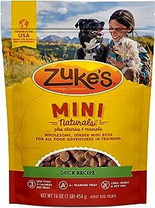 Zuke's Natural Training Dog Treats; Mini Naturals Recipe; Made in USA Facilities