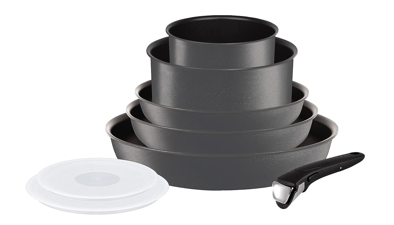Tefal L6589402 Ingenio 5 Performance - Juego de sartenes y cacerolas, 8 Piezas, aptas para inducción, Color Gris: Amazon.es: Hogar