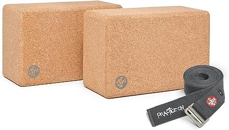 Amazon.com : Manduka Syma 2 Yoga Blocks Set with Align 10ft ...