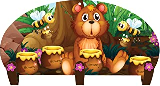 product image for Next Innovations Kids Coat Rack Wall Mounted Three Hook Honey Bear Coat Rack