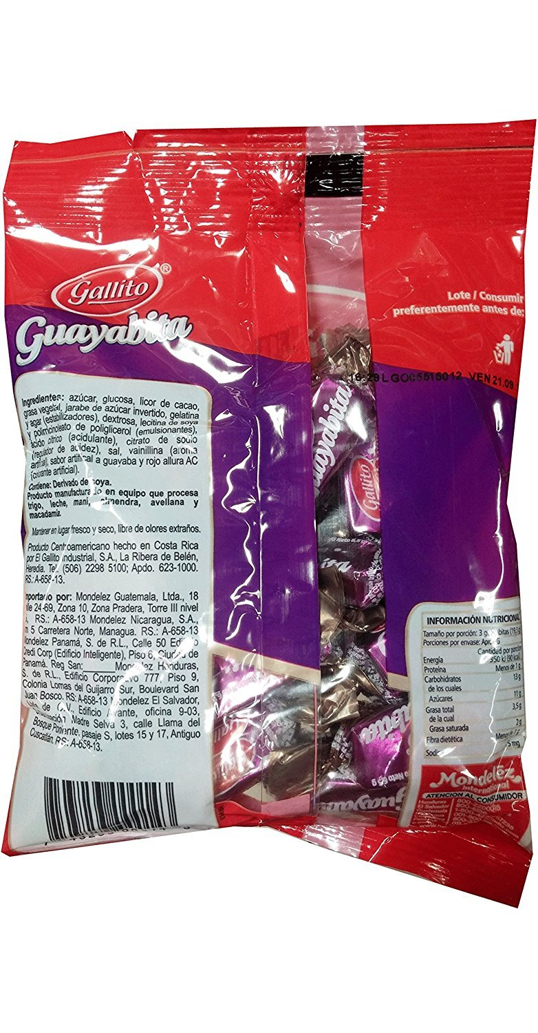 Amazon.com : Confites Guayabita Gallito Candy 4.1 ounces, 117g. - Pack of 2 : Grocery & Gourmet Food