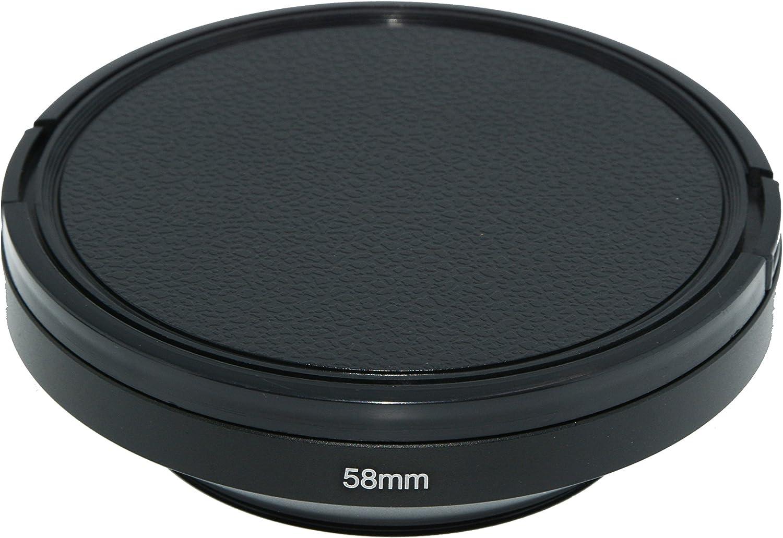 Tapa del Objetivo para Nikon Canon Sony Fuji Pentax Sumsung Leica Lente de Rosca est/ándar SIOTI Gran Angular ventilado Parasol de Metal pa/ño de Limpieza