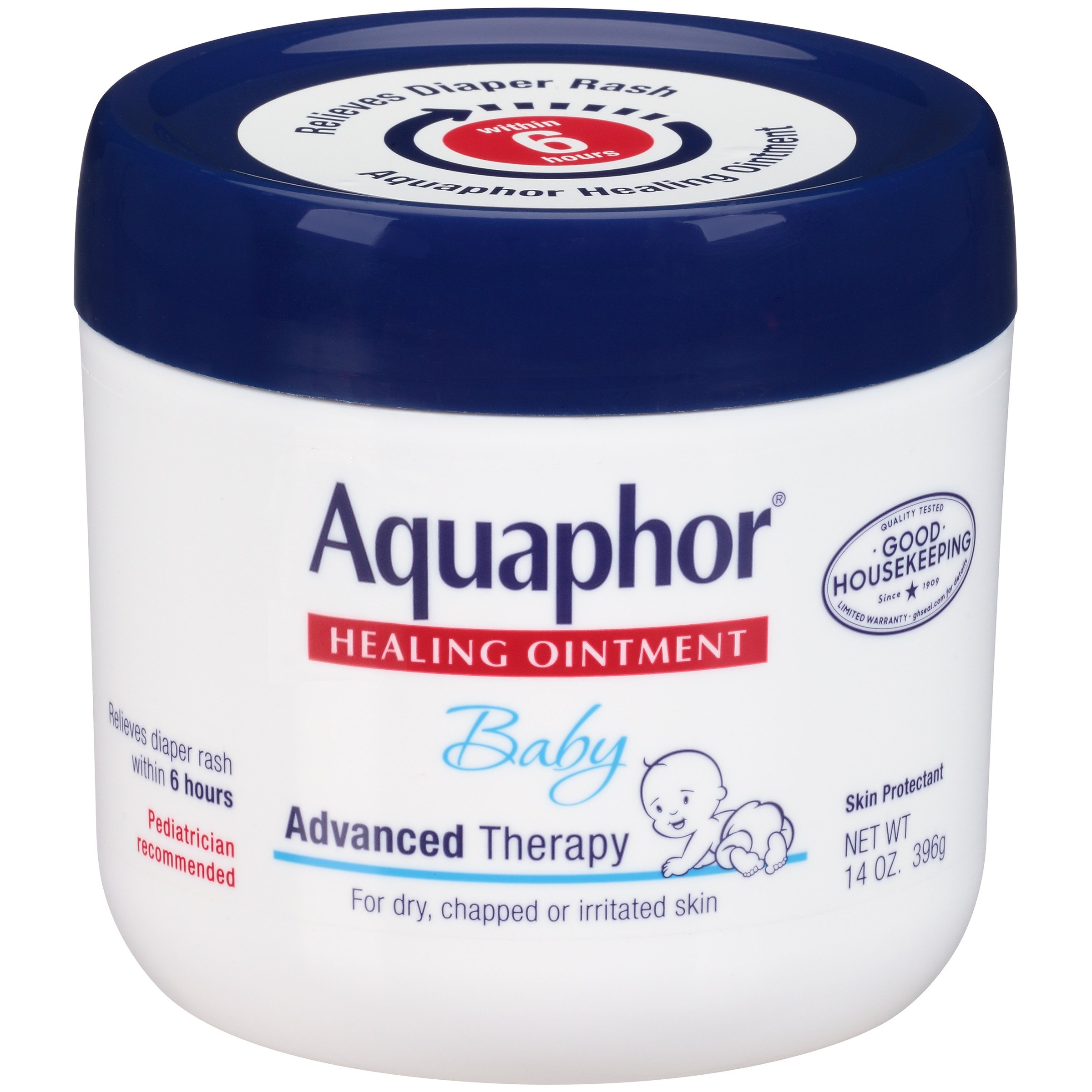 Aquaphor Baby Healing Ointment Advanced Therapy Skin Protectant, 14 Ounce, Pack of 2 by Aquaphor