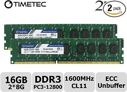 New Hynix 16GB 2x8GB DDR3 2RX8 1600MHz PC3-12800E 240pin ECC Memory Unbuffered