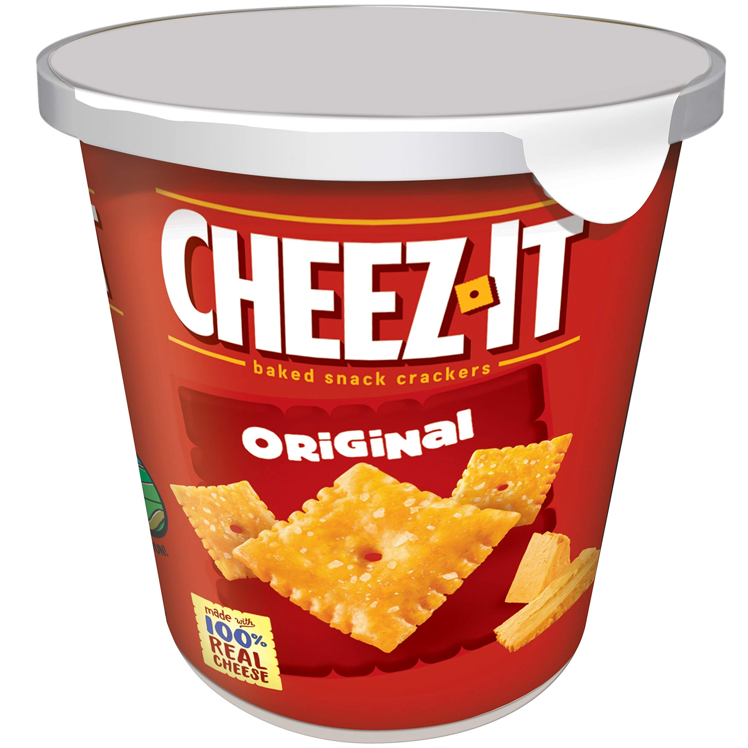 Cheez-It Baked Snack Cheese Crackers in a Cup, Original, Single Serve, 2.2 oz