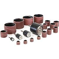 WEN DS164 Kit de tambor de lixamento de 20 peças para furadeiras e furadeiras elétricas