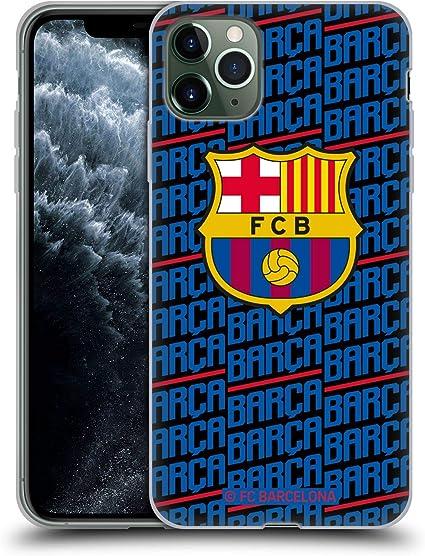 Head Case Designs sous Licence Officielle FC Barcelona Barca Crête Modèles Coque en Gel Doux Compatible avec Apple iPhone 11 Pro Max