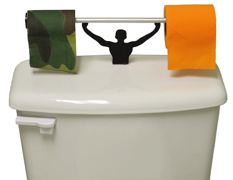Fairly Odd Novelties Camo and Blaze Orange Toilet Paper W//Strong Man Holder Hunter Gift Set