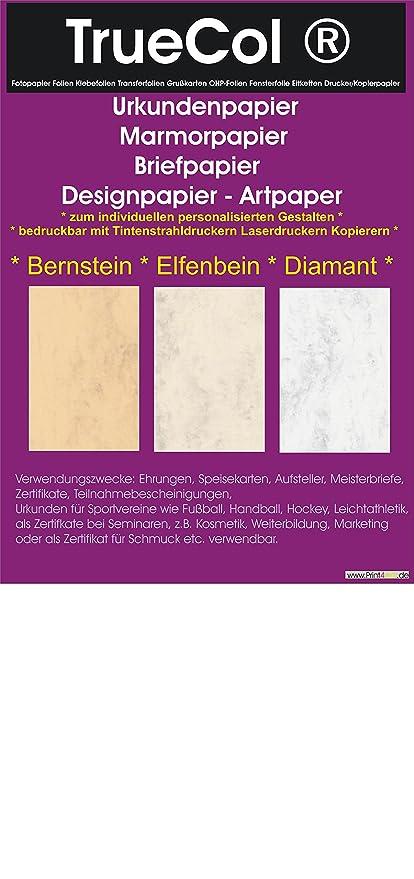 10 Blatt Din A4 Elfenbein beidseitiges Urkundenpapier: Amazon.de ...