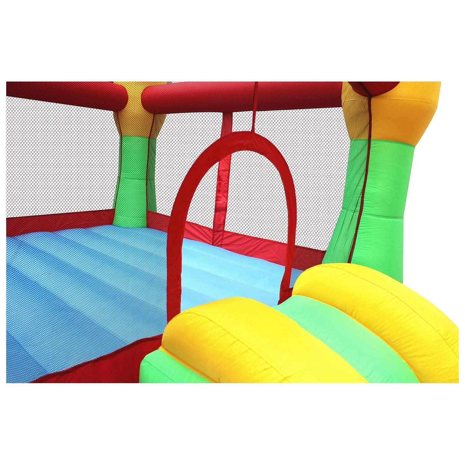 BestParty Inflatable Bounce House Castle Jumper Moonwalk Slide Inflatable Jumping Bouncy House with Blower by BestParty (Image #4)