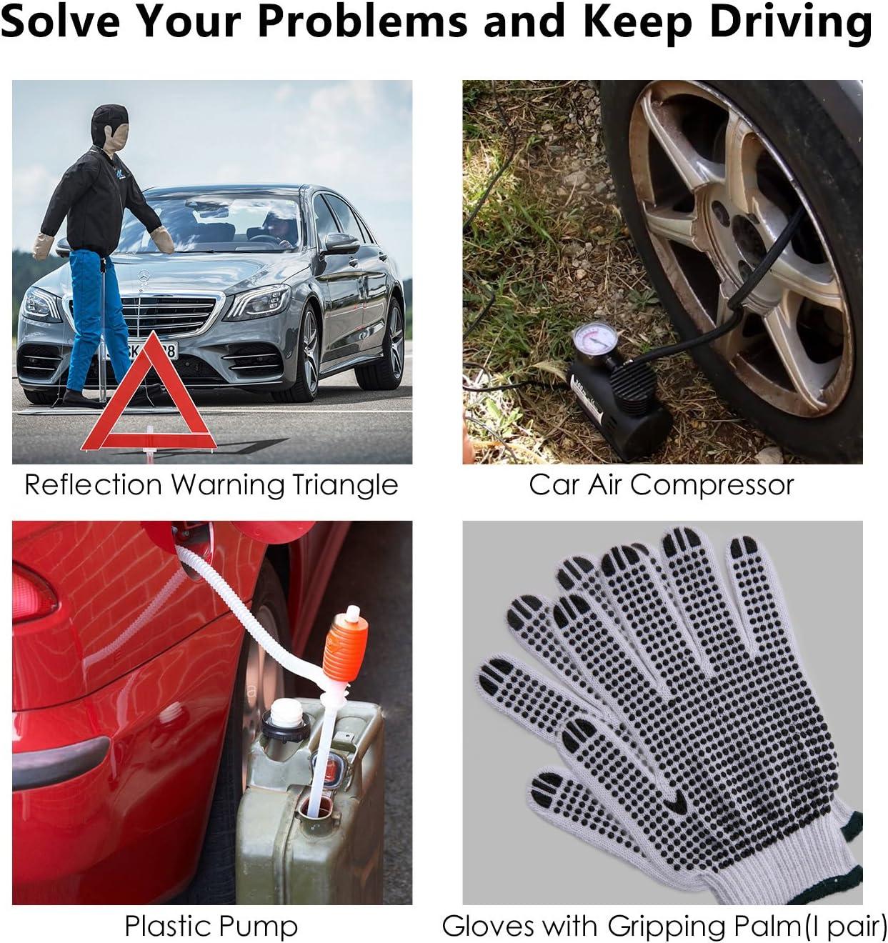 Kit durgence Auto Kit Securite Voiture Kit De Secour Auto Multifonctionnel 76 en 1