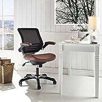 Modway Edge Vinyl Office Chair, Tan