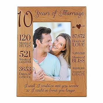 Cojín Personalizado Regalo Recuerdo 10th aniversario de bodas 10 Años